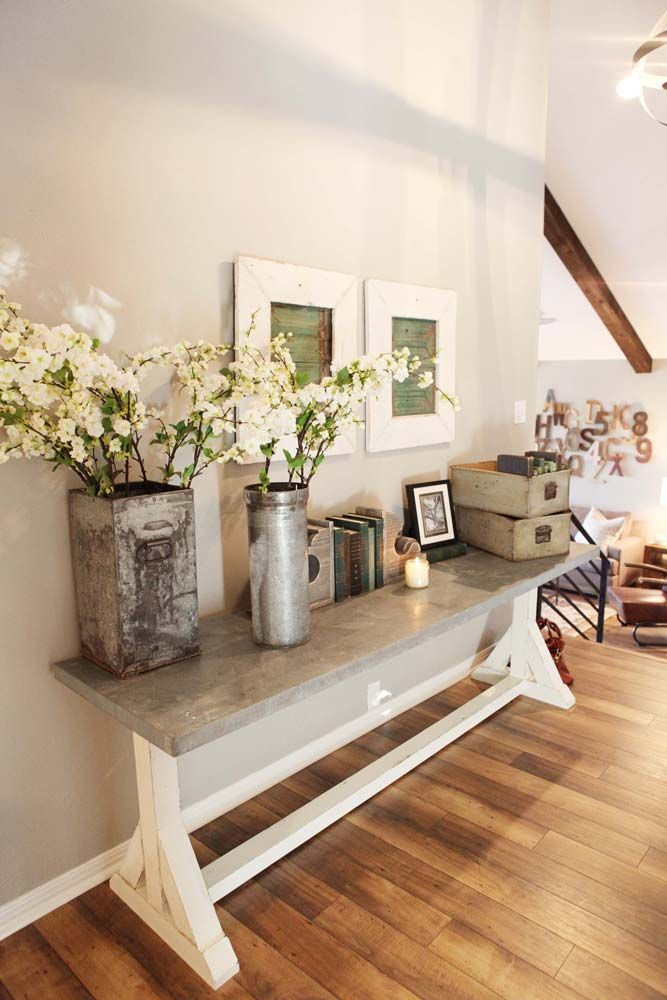 Add Fresh Flowers in Rustic Containers