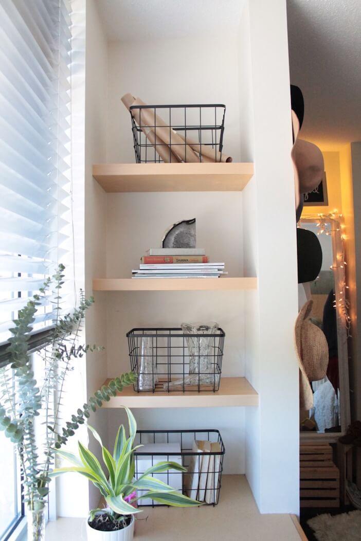 Neat Little Wooden Wall Shelves