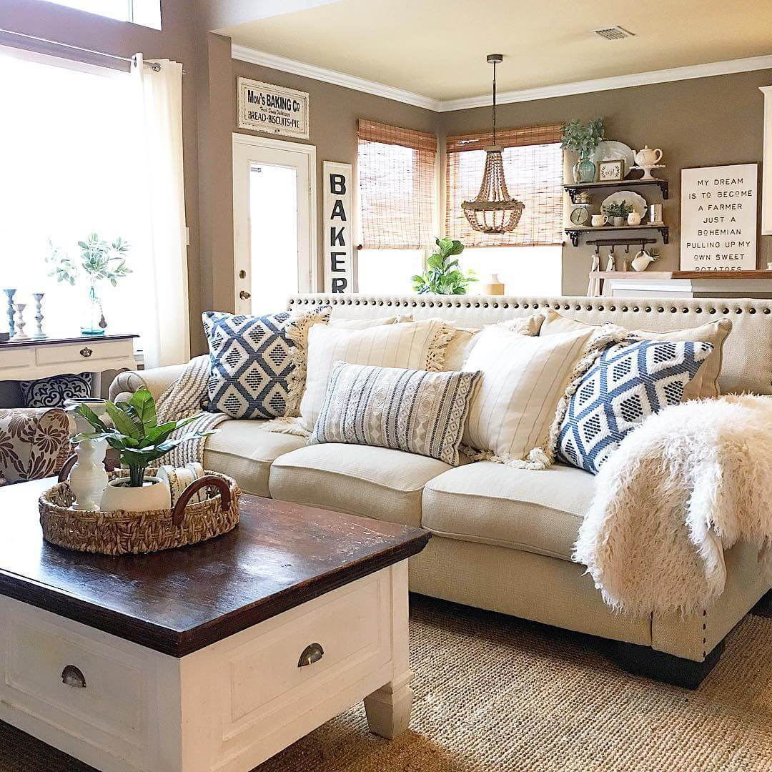 Our Favorite Country Cottage Living Room Look
