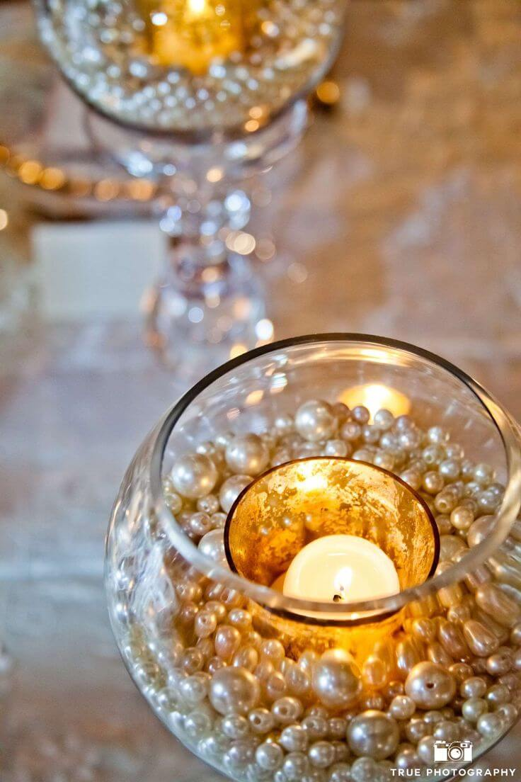 Burning Baubles Wedding Table Decorations