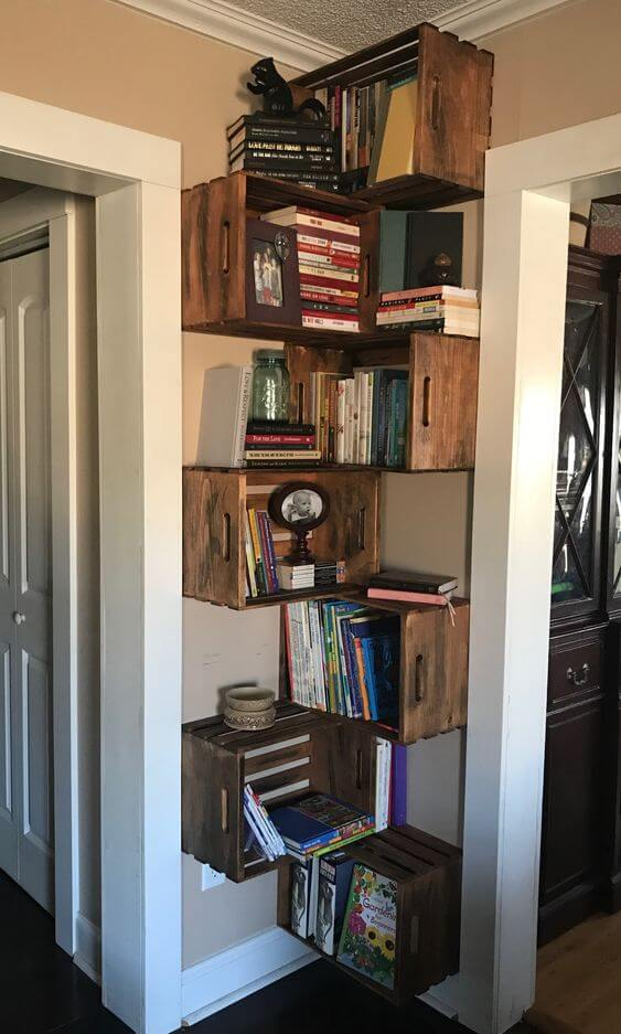 Reclaimed Wall Mounted Corner Crates