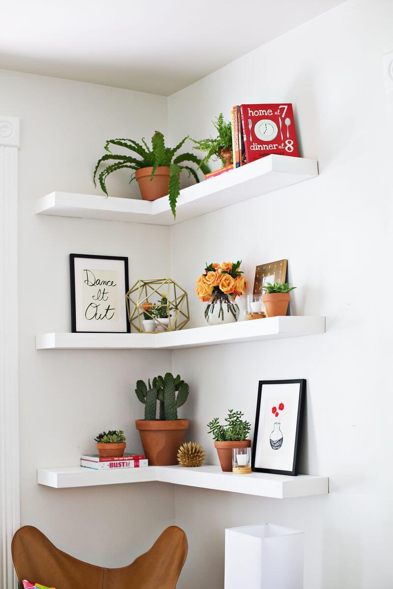Corner Nook L-Shaped Art Display Space