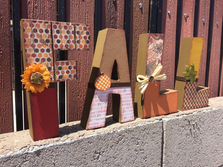 'Fall' Wooden Letter Blocks