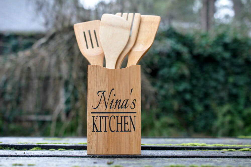 Kitchen Utensil Storage with Customized Face