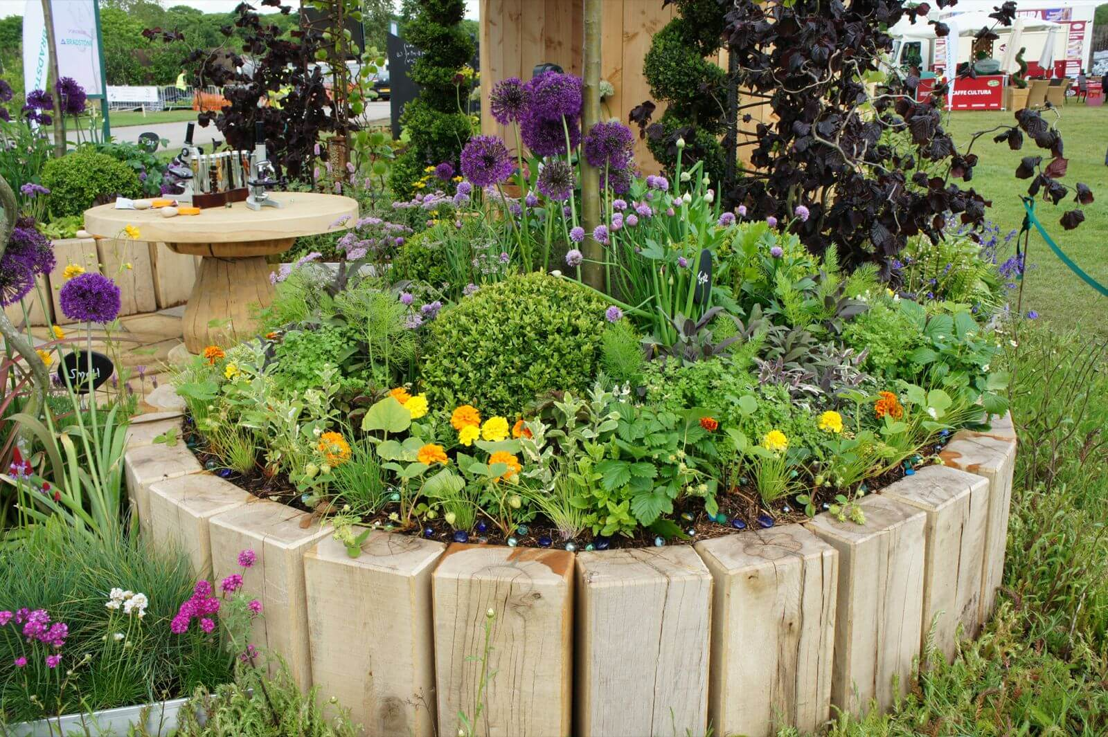 DIY Wood Flower and Herb Bed