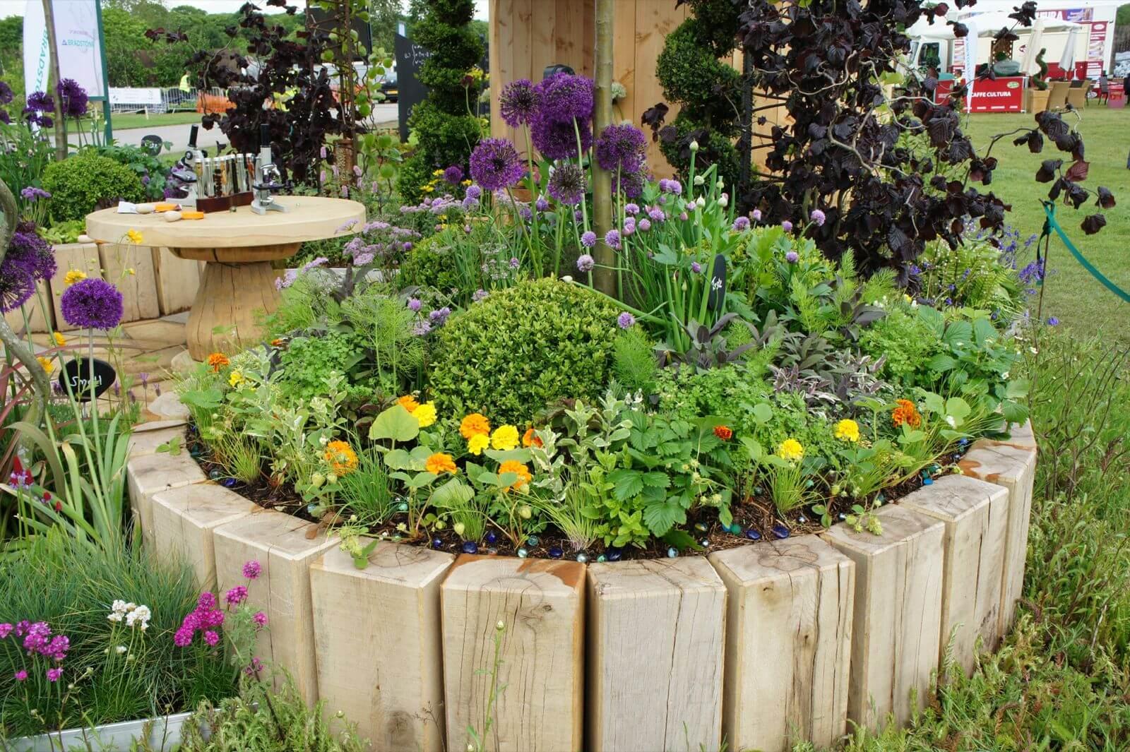 DIY Wood Flower and Herb Bed
