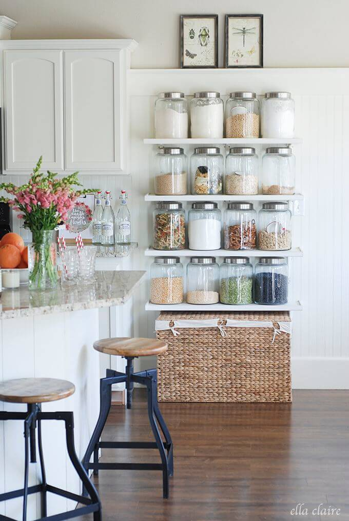 Space Saving Pantry Item Shelves