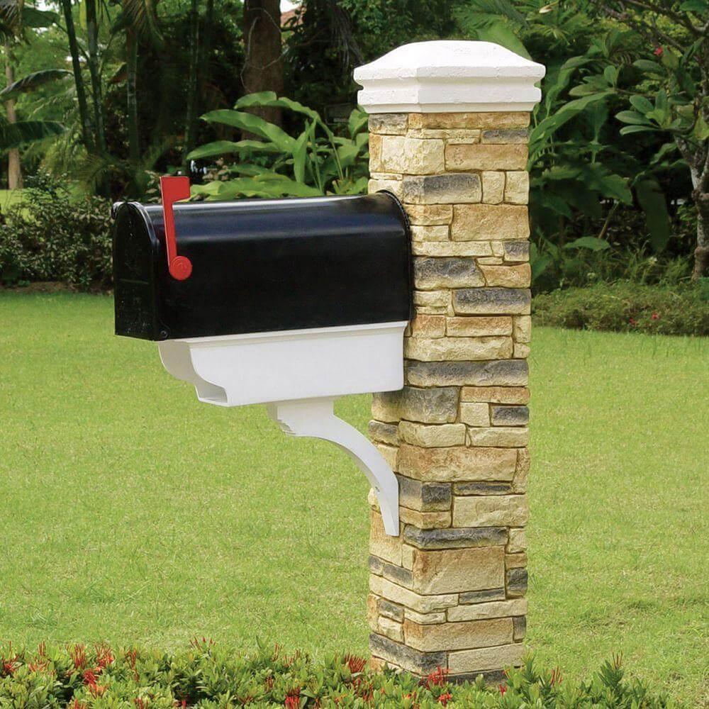 Stone Pillar with Newspaper Box