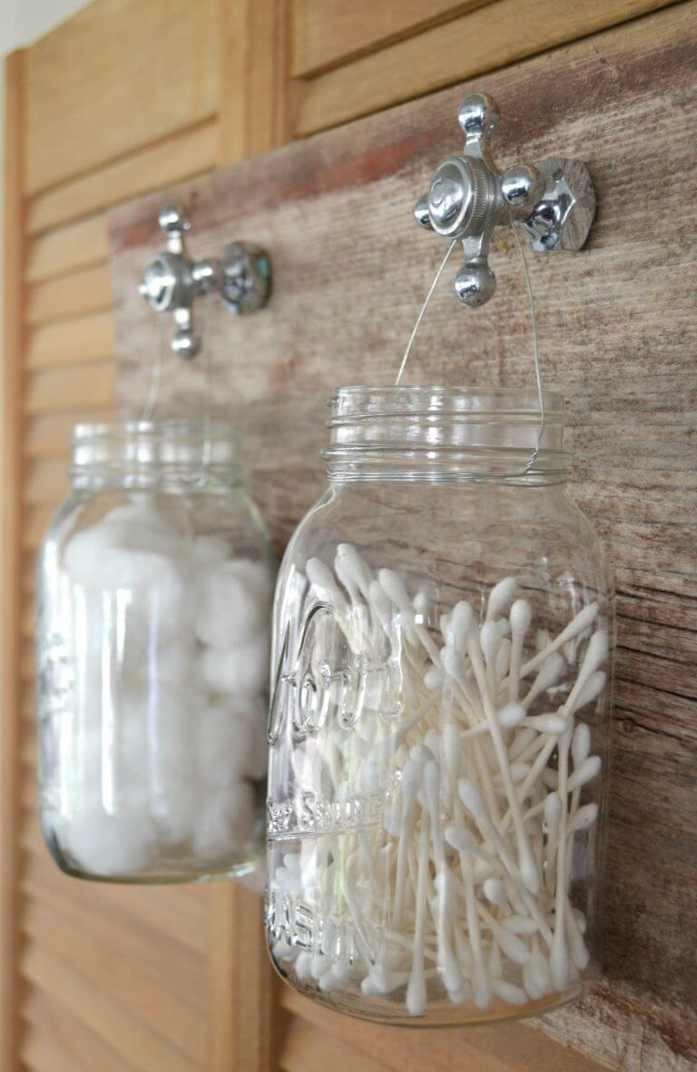 Rustic Bathroom Storage