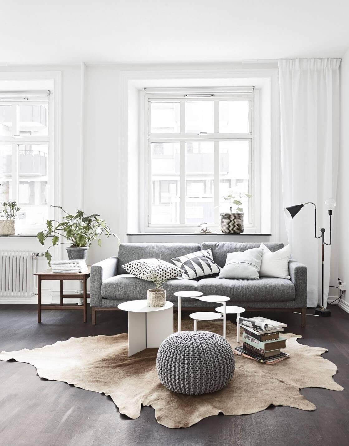 Neutral Color Scheme Modern Living Room