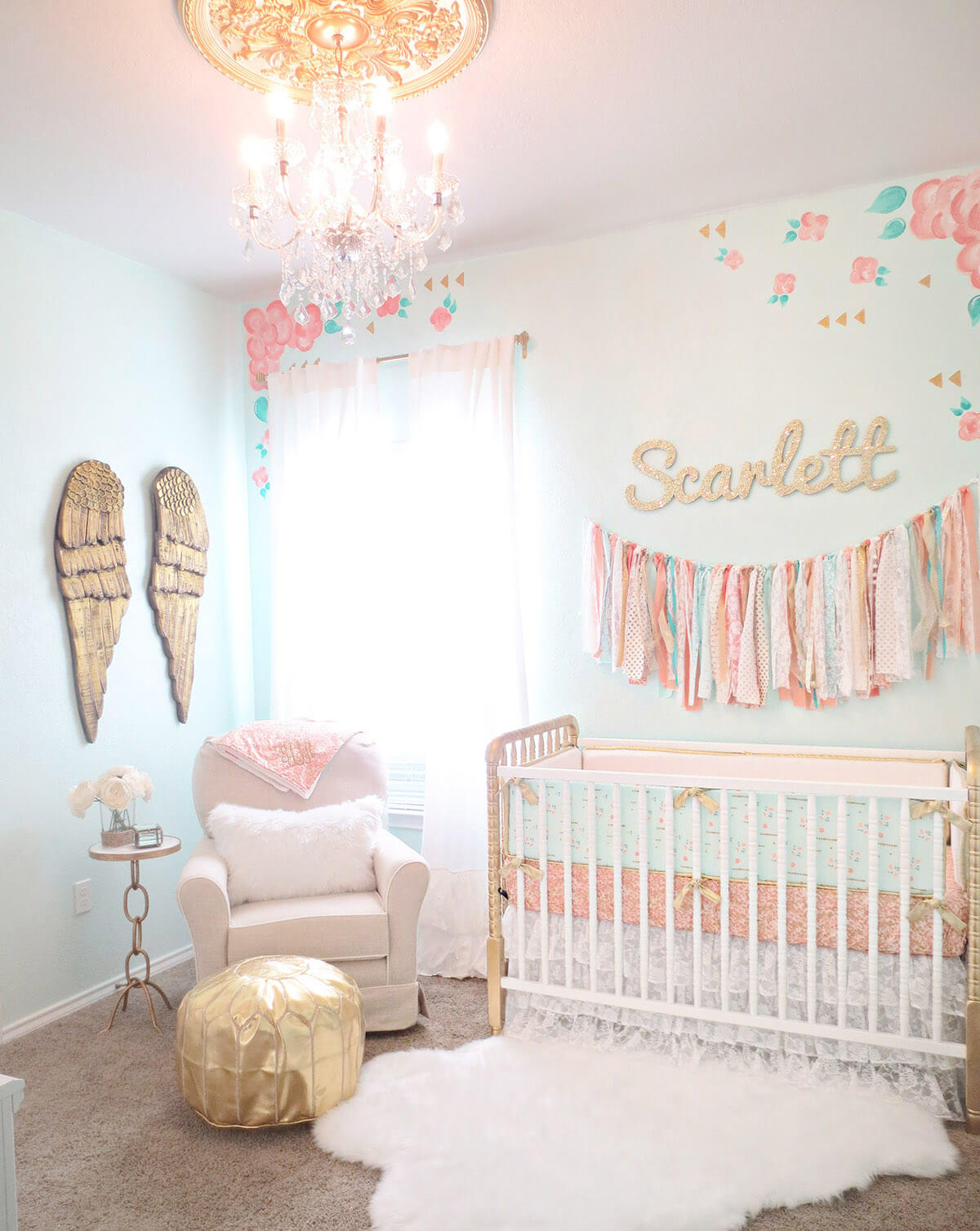 Confetti and Gold Accent an Eclectic Nursery Look