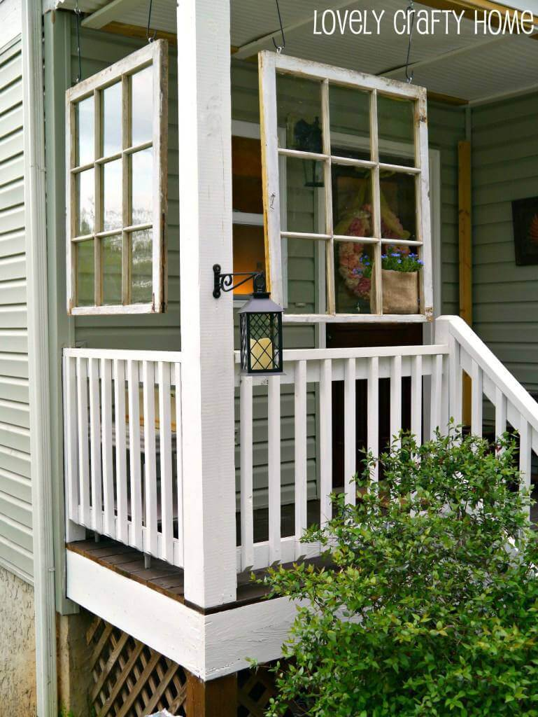 Hang Window Frames on the Front Porch