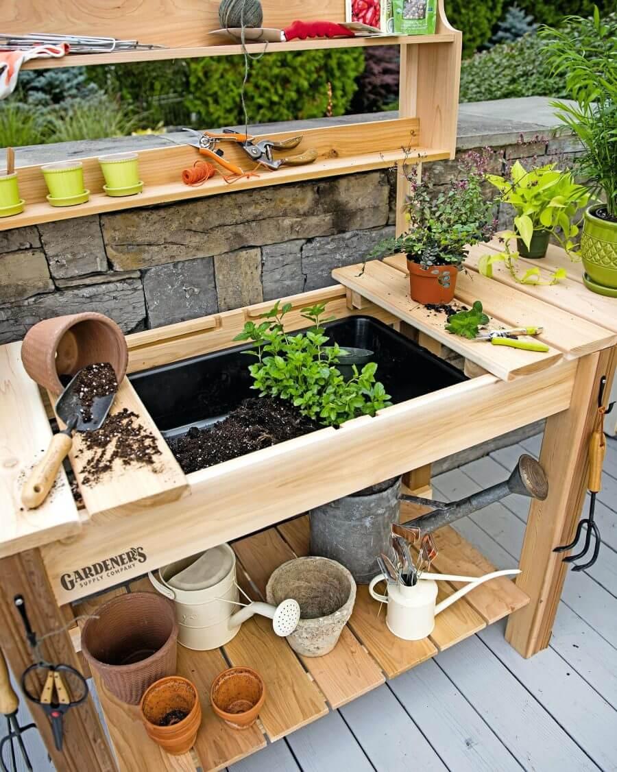 9 Creative Potting Bench Ideas to Make Gardening More Fun  Rina