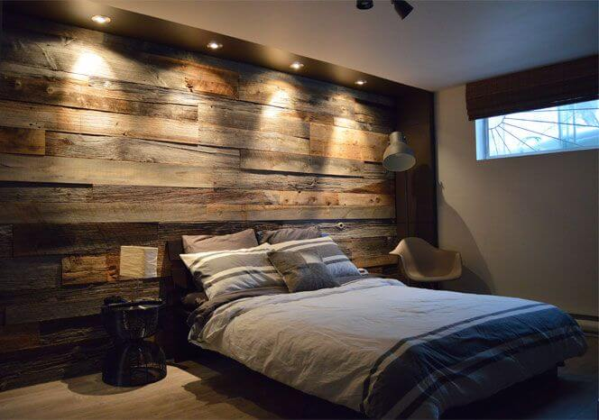 Recessed Lighting and Wooden Planks
