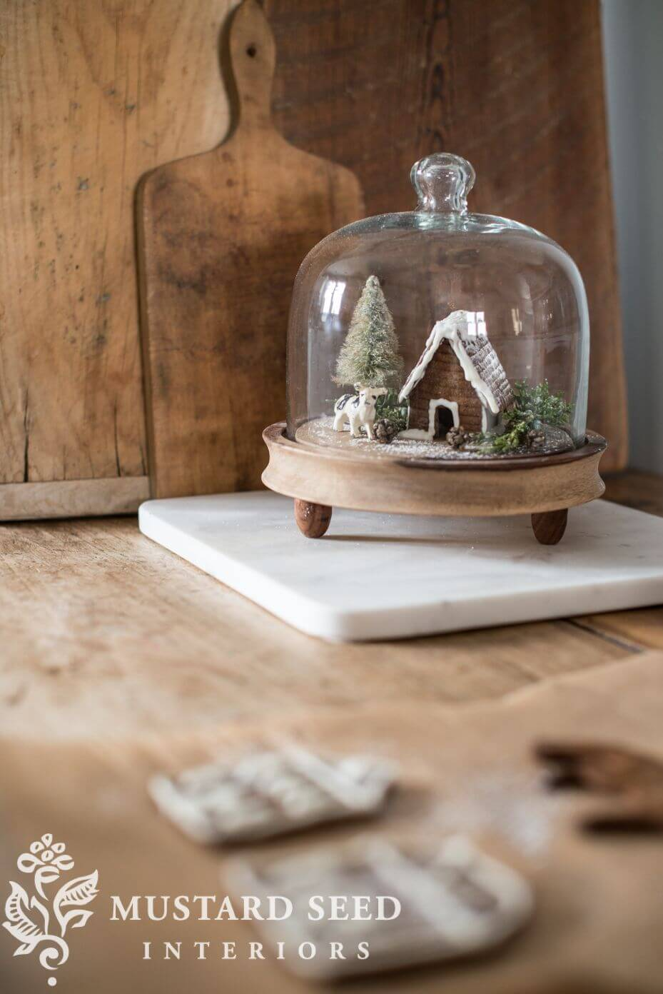 Tiny Tabletop Gingerbread Cottage Diorama