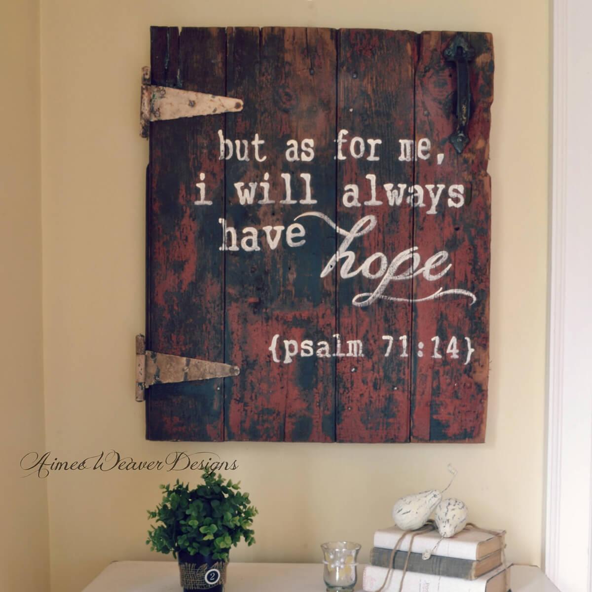 Wall-Hanging Barn Door Bible Verse
