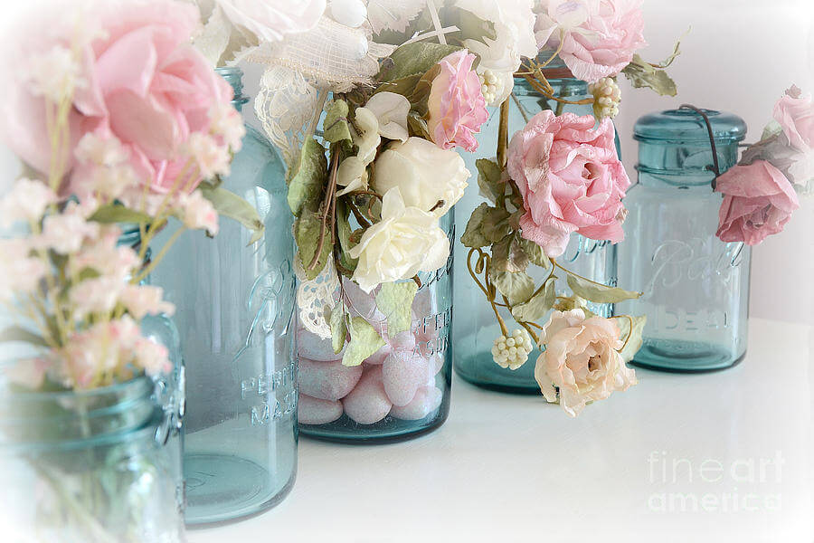 DIY Mason Jar Rose Decorations
