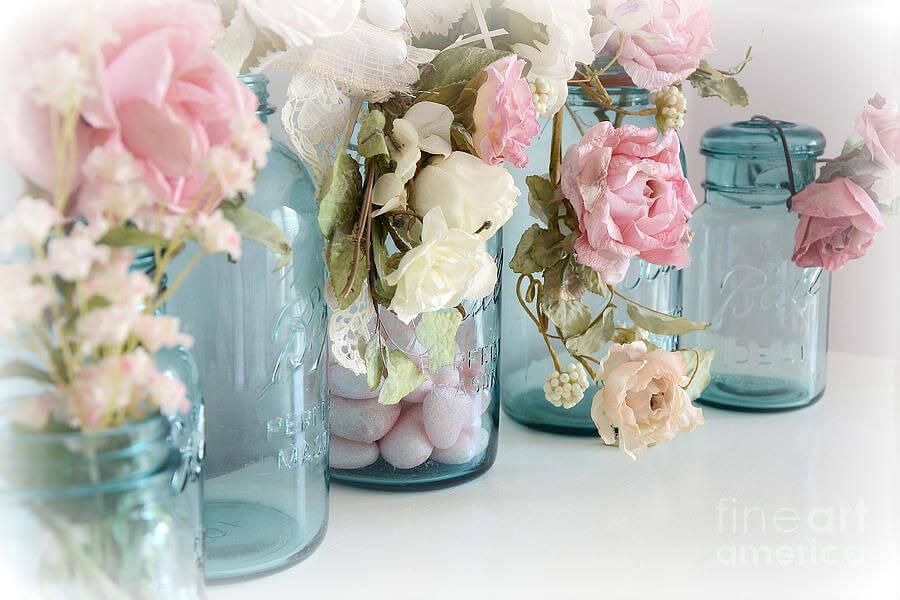 DIY Mason Jar Rose Decorations