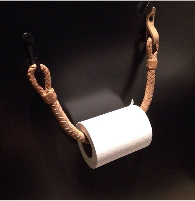 Braided Leather Toilet Paper Dispenser