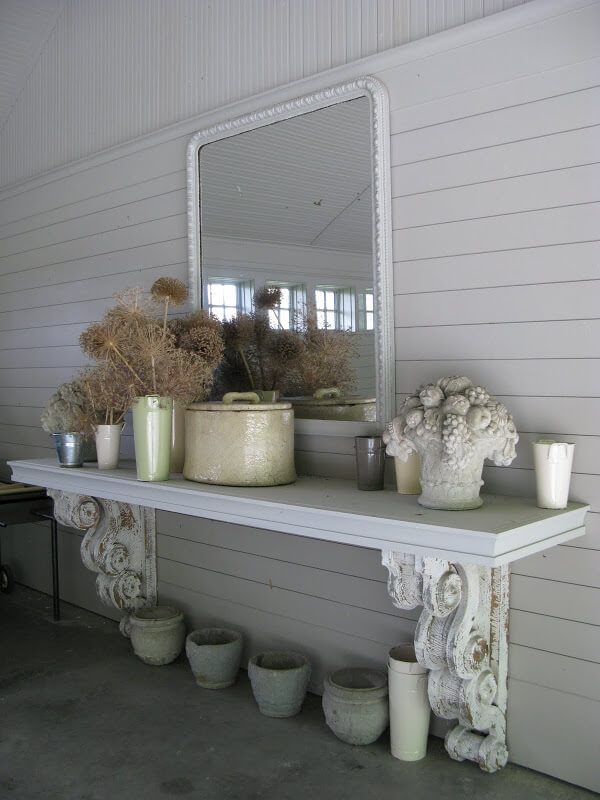From Ceiling to Floor Potting Table Project