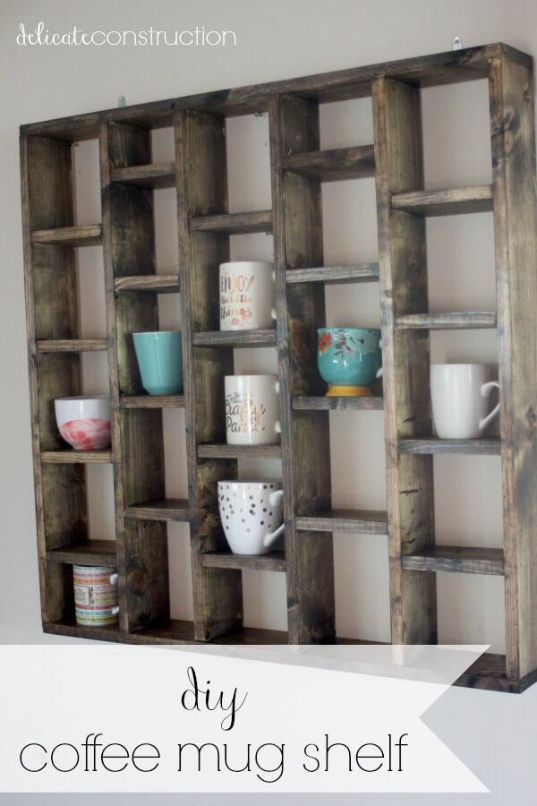 Weathered Look DIY Coffee Mug Holders