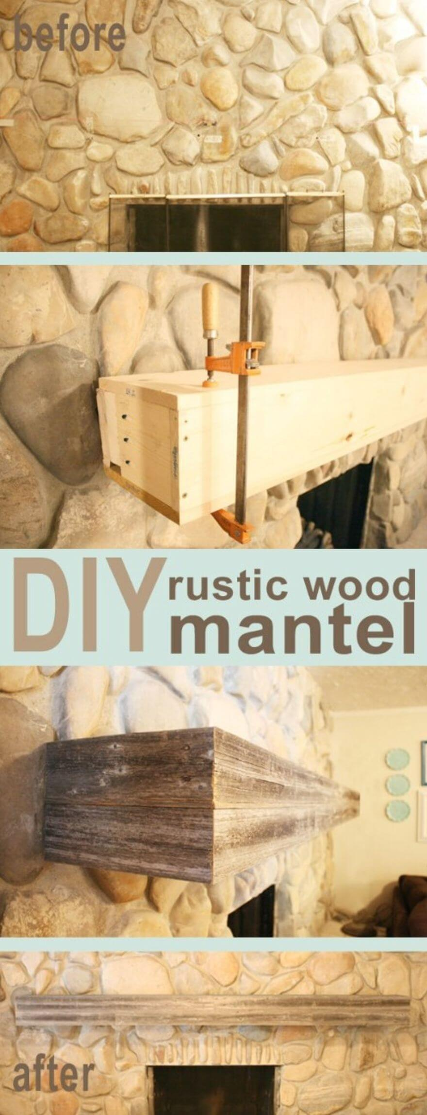Make a Rustic Style Mantel