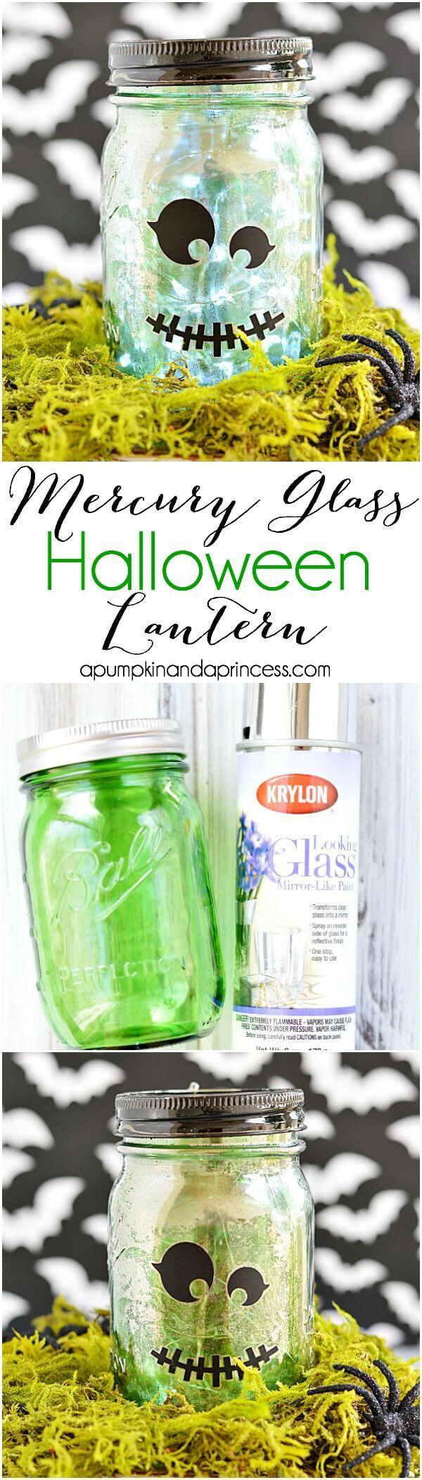Mercury Glass Frankenstein Lantern