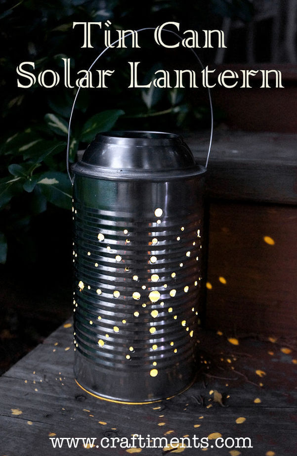 Make a Lantern with a Solar Light