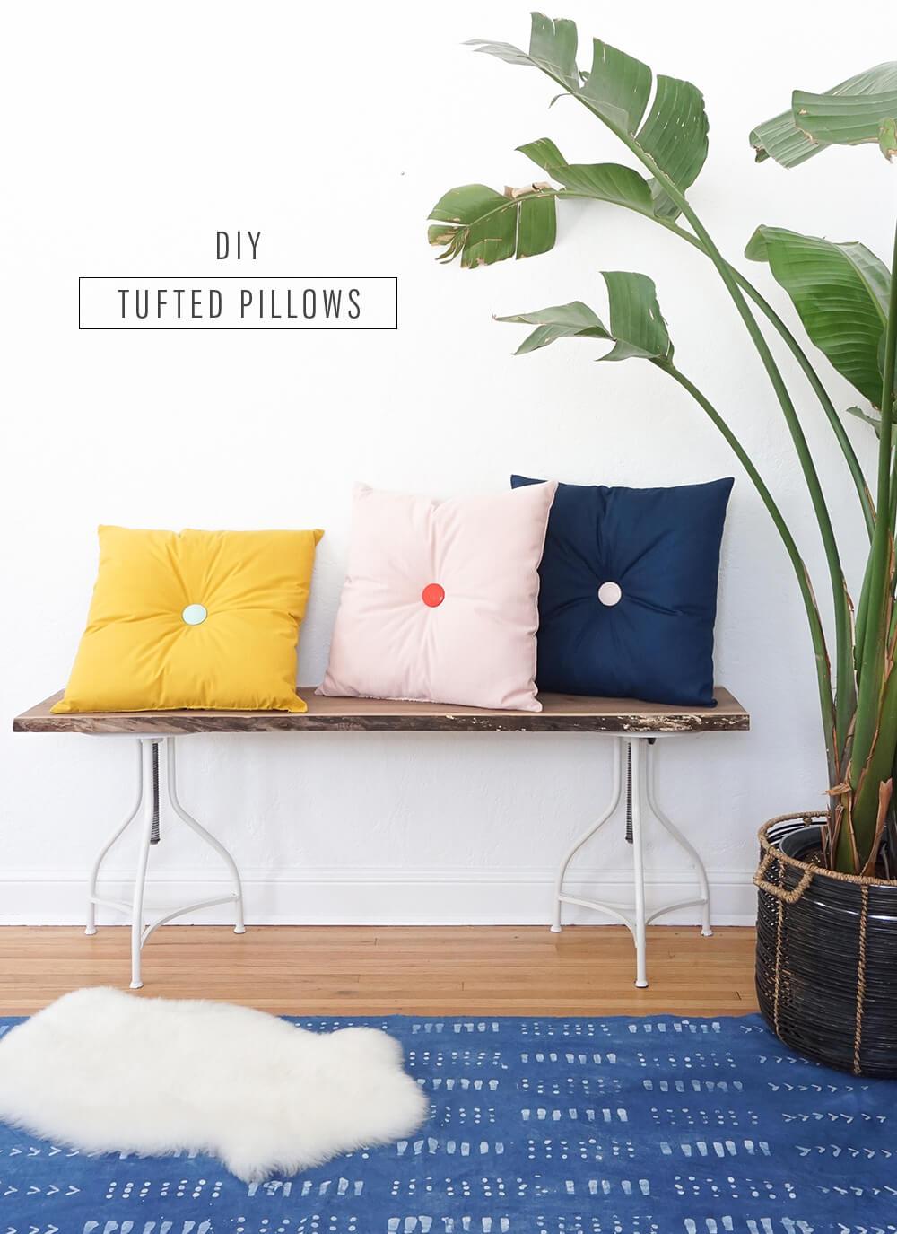 Simple Tufted DIY Pillow Ideas