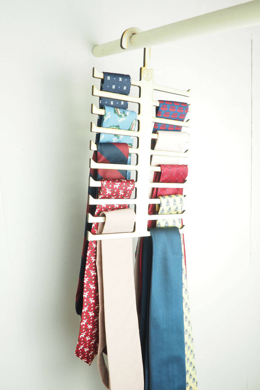 Unique Tie Hanger for Closet Organization