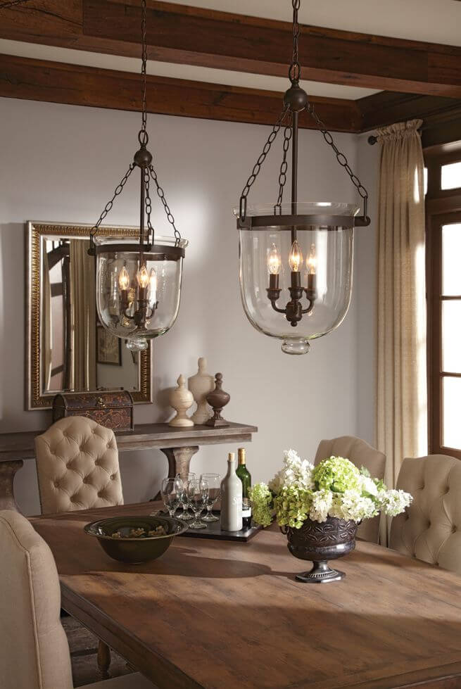 Mini Chandeliers With Bell Jar Cover