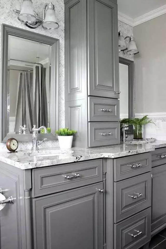 Soothing Gray Bathroom