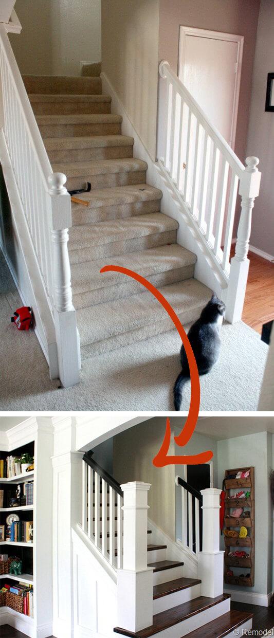Elegant Big Column Staircase Concept