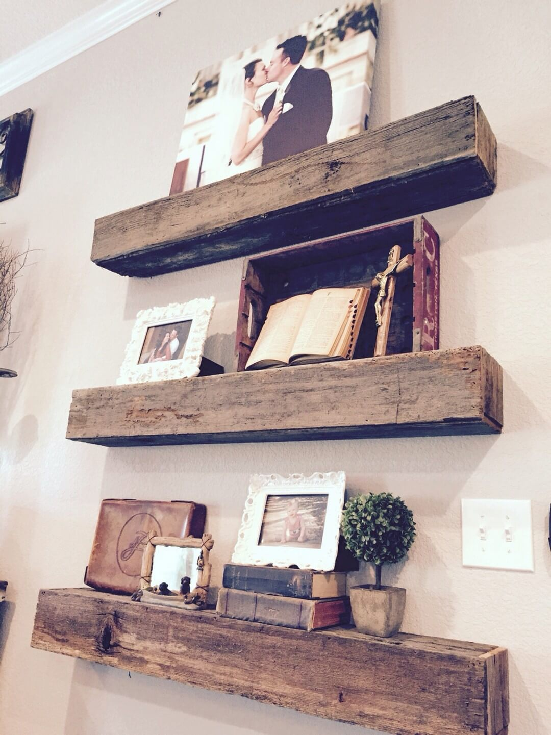 Floating 2 X 4 Wall Shelves