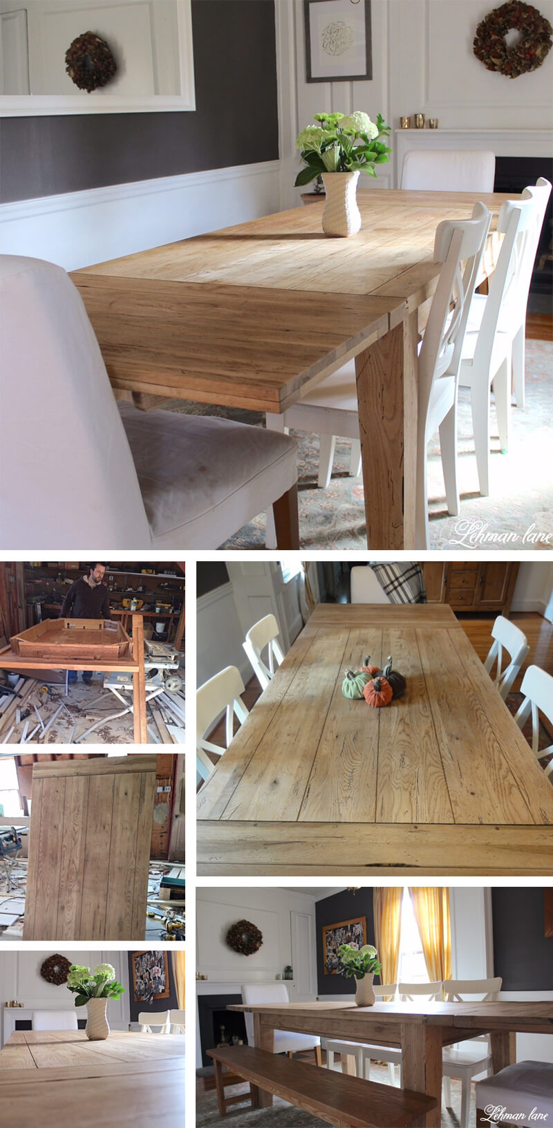 DIY One-of-a-Kind Oak Statement Table