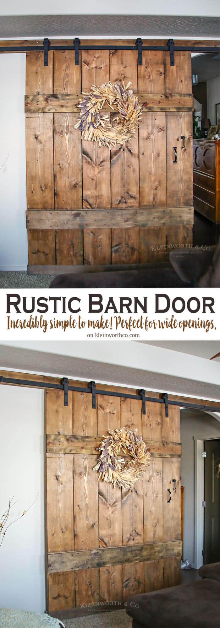 Simple DIY Barn Door Room Divider
