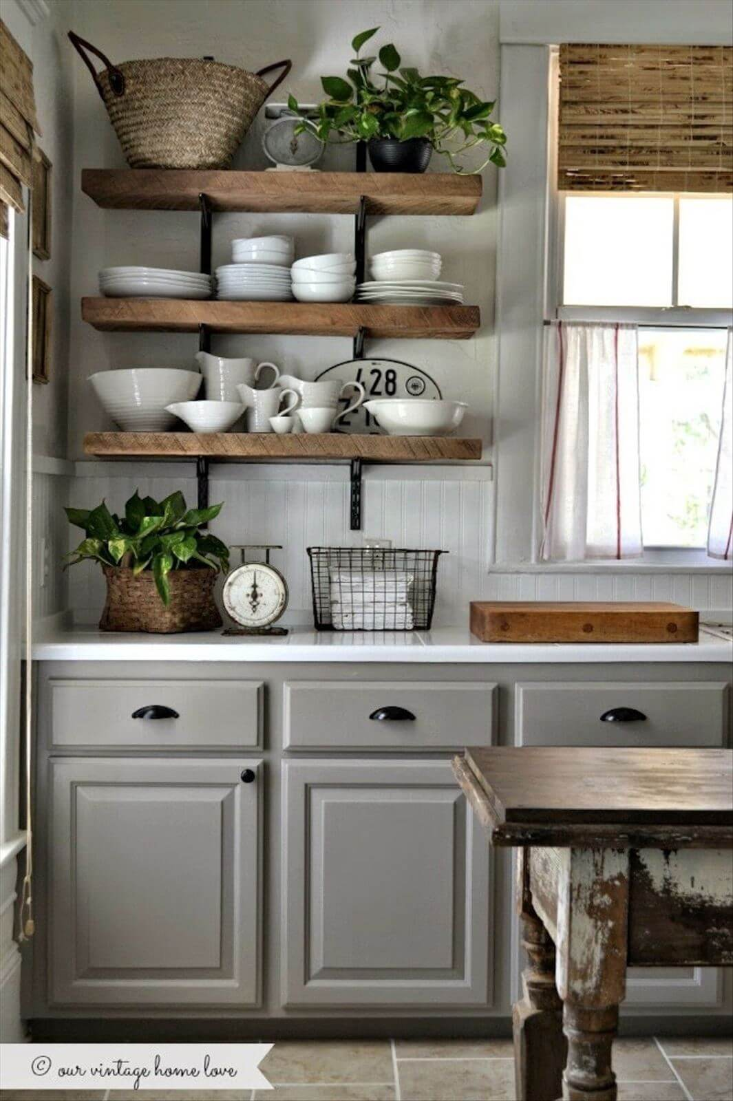 Earl Gray Rustic Cabinets