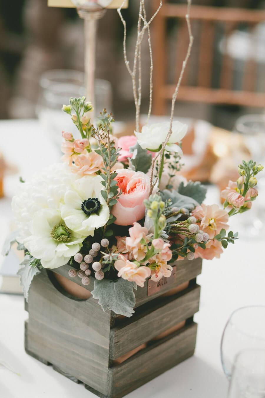 A Feminine Box with a Delicate Floral Arrangement