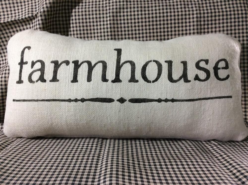Farmhouse Pillows with a Message