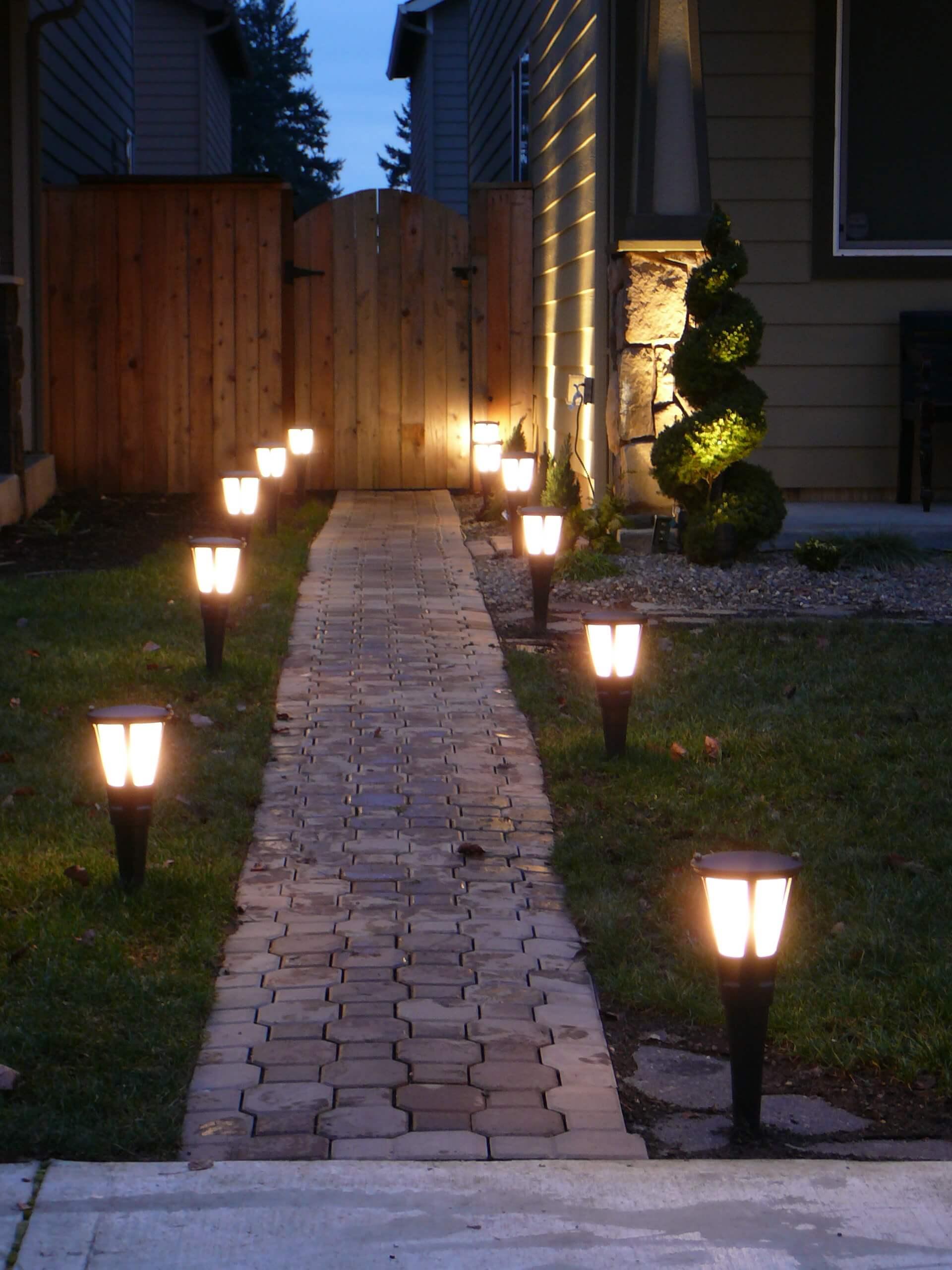 Simple Solar Brick Pathway Lights