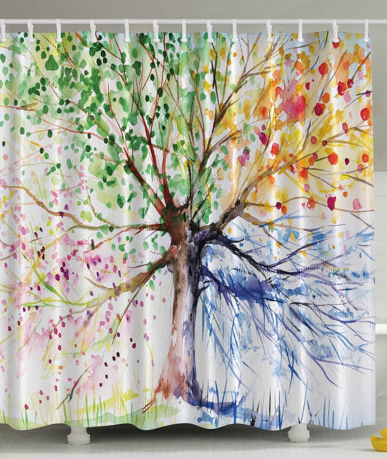 Watercolor Tree Curtain Design