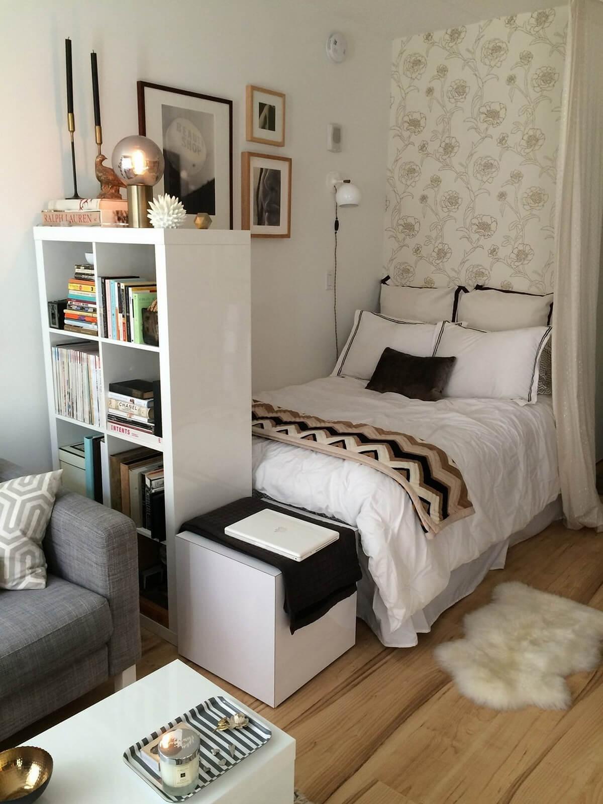 White Bookcase Room Divider