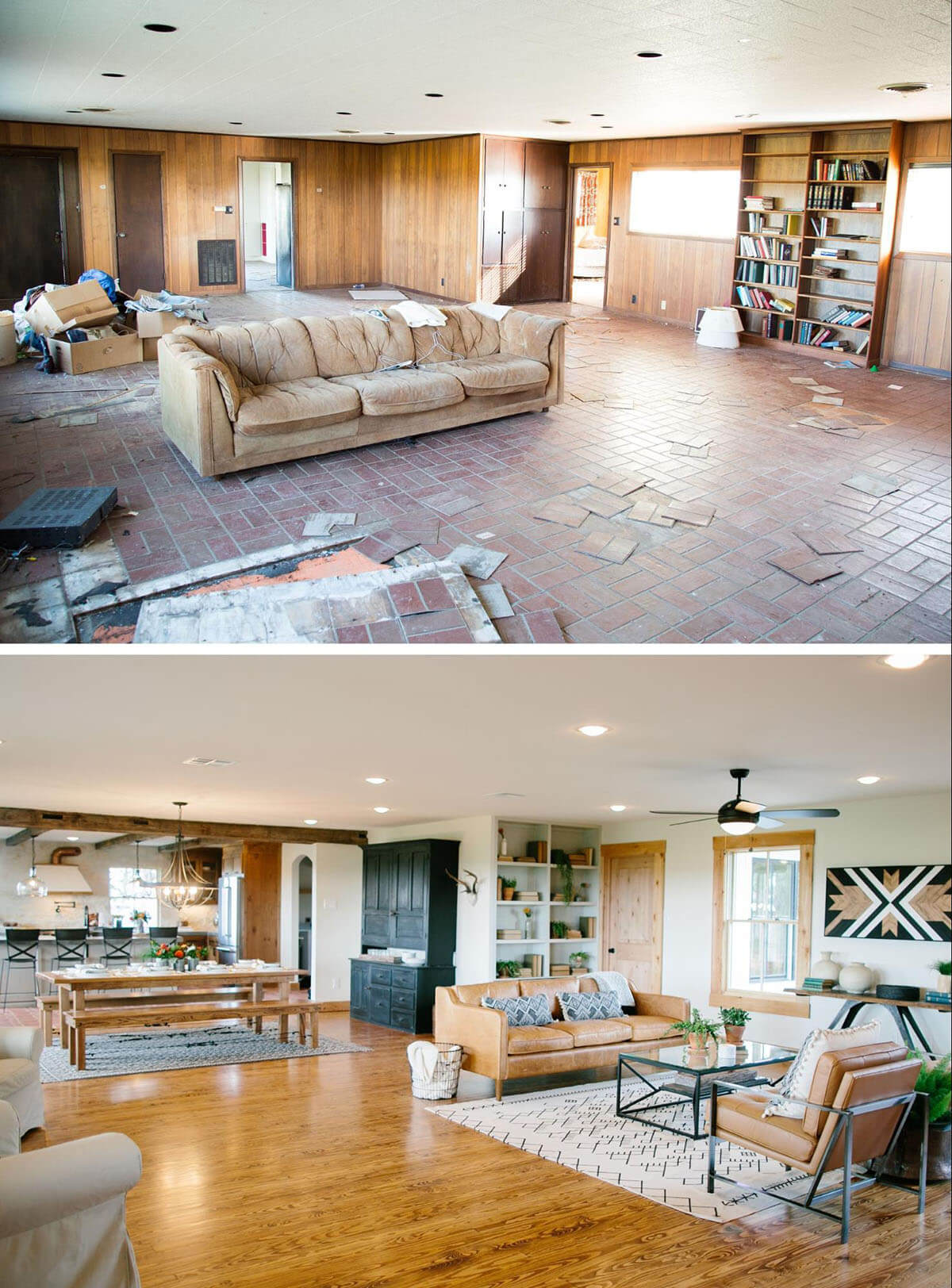 Open Floor Plan Before and After