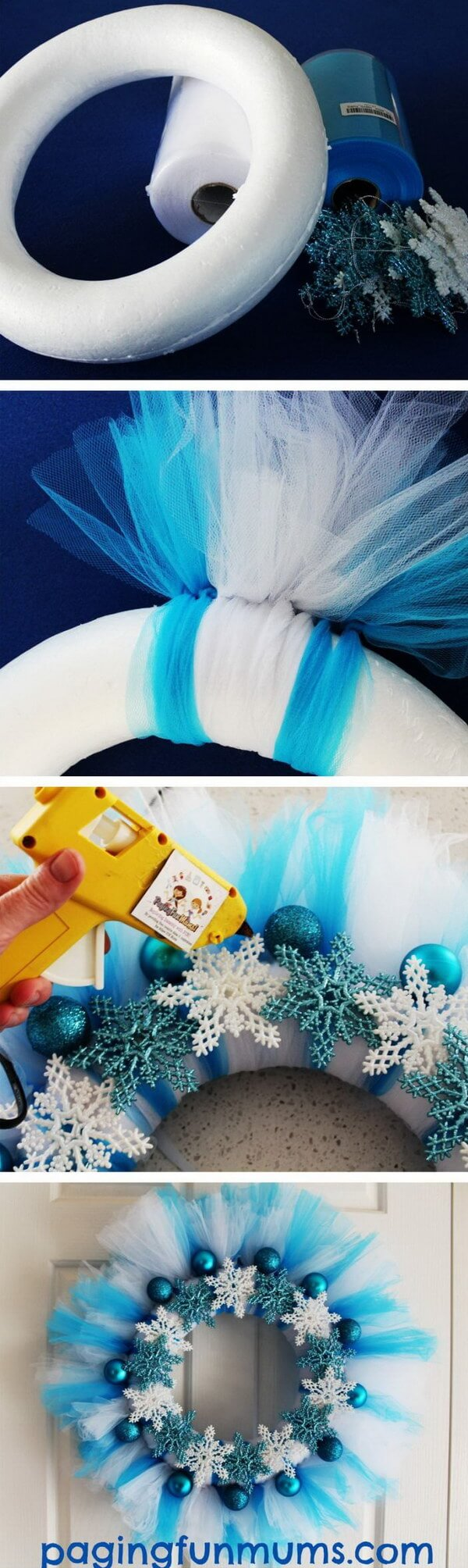 Frozen Inspired Blue Snowflake Design