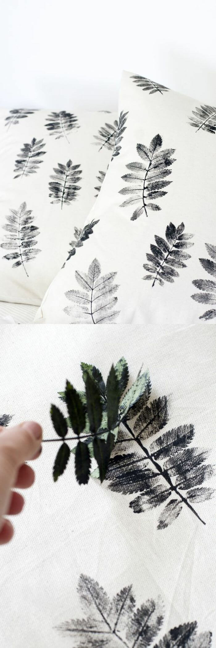 DIY Fern Leaf Wallpaper Stamps