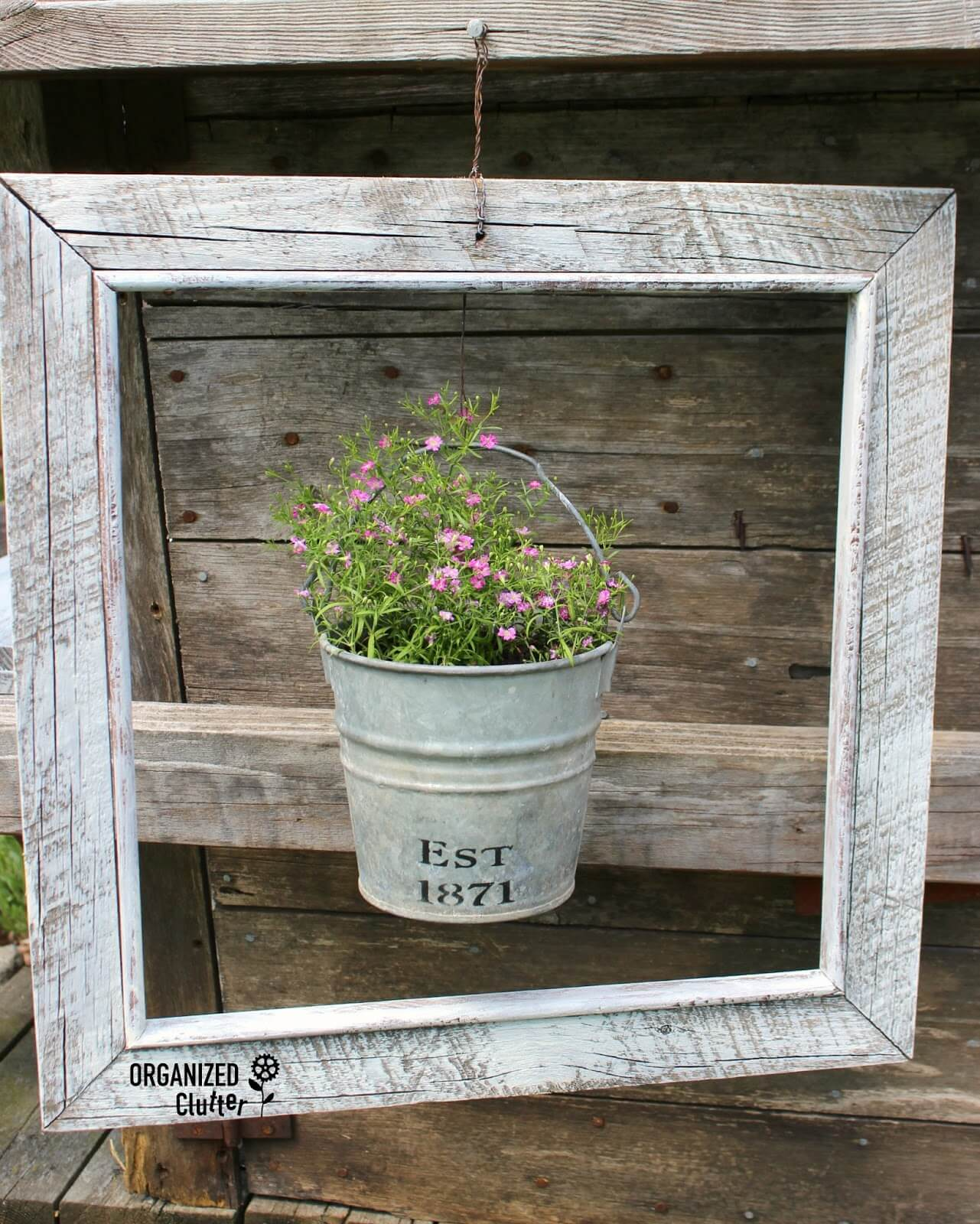 Highlight a Pot with a Distressed Frame