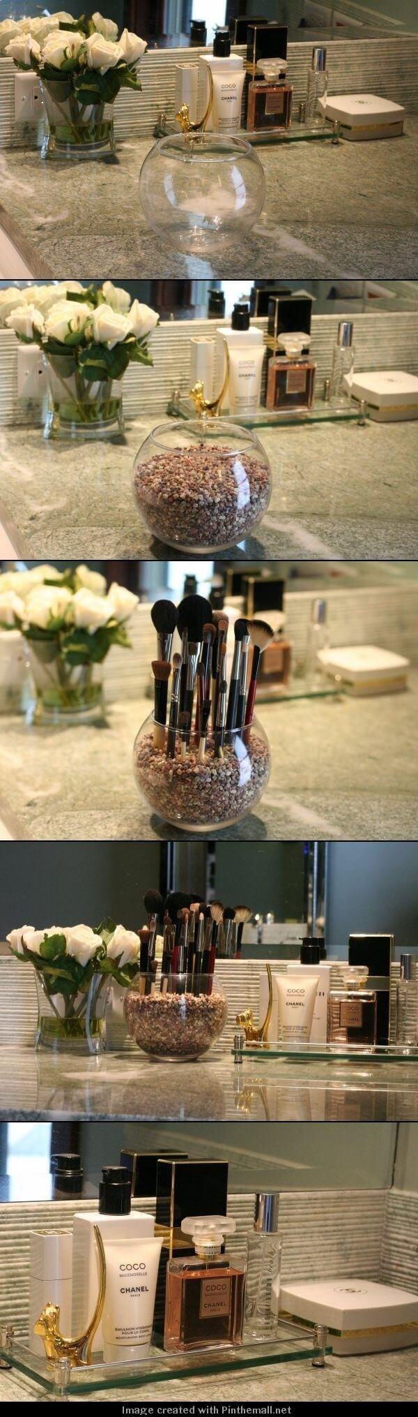A Zen Garden for Makeup Brushes