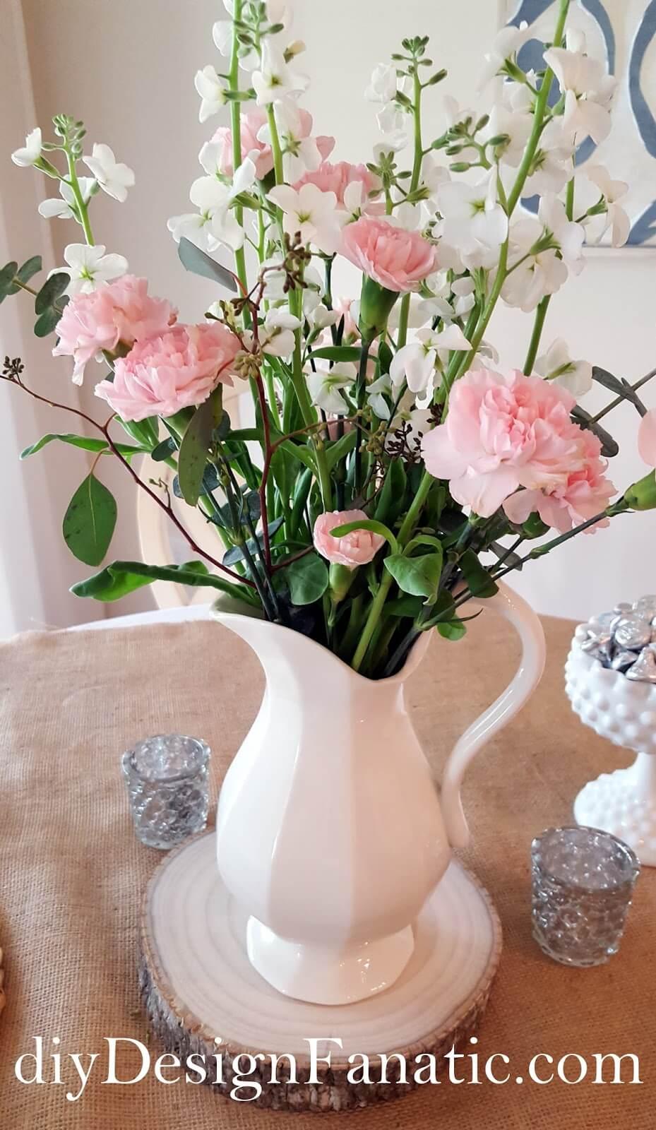 Flowers in Pink, Jug in White