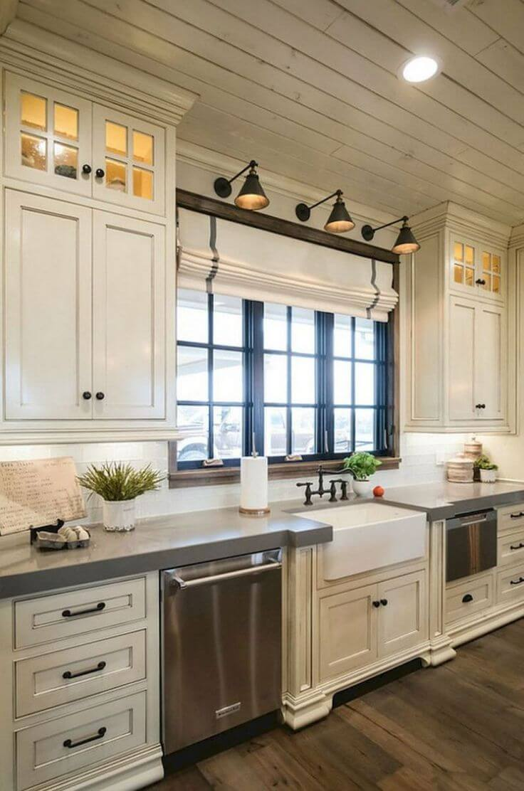 Rustic and Modern Cabinets with Farmhouse Flair