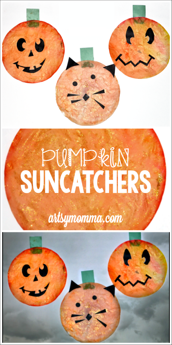 Coffee Filter Jack-o-Lantern Sun Catchers